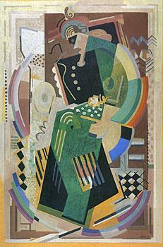 <em>Composition</em>, 1937-1938<br /> Huile sur toile<br /> 250 x 165 cm<br /> Attribution du Fonds national d'Art contemporain, 1939 (inv. AM 2332 P)<br /> <br /> En dépôt au musée des Beaux-Arts de Nancy depuis 1998