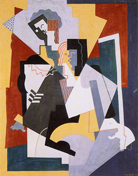 <em>Les Musiciens</em>, 1920<br /> Huile sur toile<br /> 119,3 x 94 cm<br /> Collection particulière