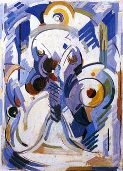 <em>Arabesque, dit aussi Libellule</em>, vers 1952<br /> Huile sur toile<br /> 80 x 57 cm<br /> Paris, Fondation Albert Gleizes