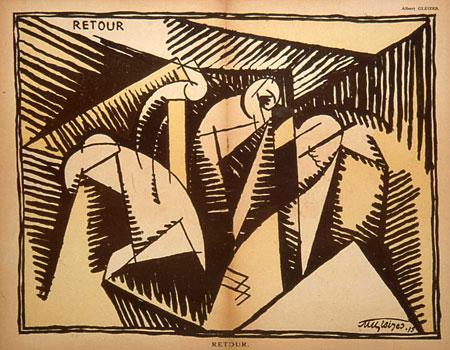<em>Retour</em>, 1915<br /> Illustration parue dans Le Mot du 1er juillet 1915<br /> 39 x 50 cm<br /> Photo Alain Basset
