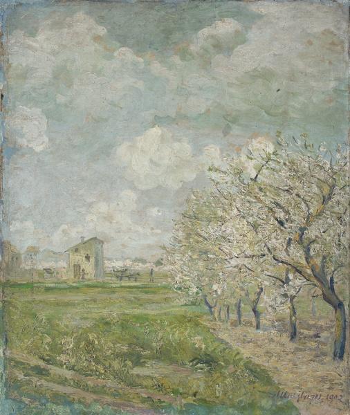 <em>Paysage</em>, 1902 <br /> Huile sur toile<br /> 66 x 45 cm<br /> Acquis en 1954 (inv. MG 3102)