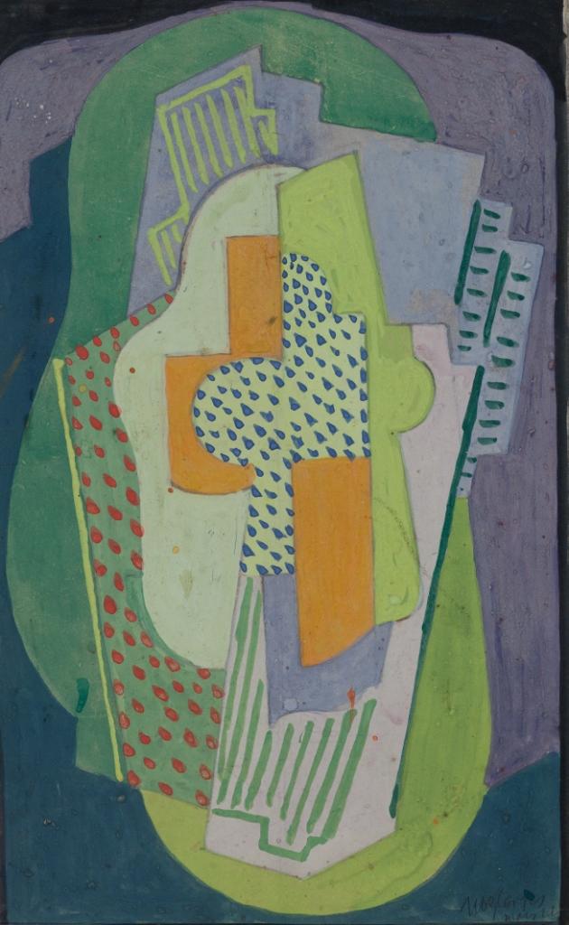 <em>Composition</em>, 1922<br /> Gouache sur papier<br /> 27 x 17,5 cm<br /> Acquis en 2003 (inv. 2003.17)
