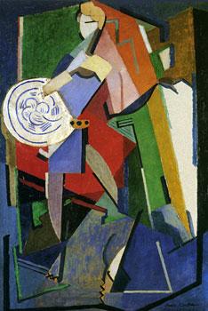 <em>Portrait de Jean Cocteau</em>, 1916<br /> Huile et plâtre sur toile<br /> 116 x 80 cm<br /> Fundación Telefónica