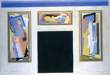 <em>Esquisse pour le décor du nouvel amphithéâtre de l'Ecole de Pharmacie</em>, 1924<br /> Gouache sur traits au crayon sur carton<br /> 68 x 100 cm<br /> Don de Juliette Roche-Gleizes, 1954 (inv. 1955-88)