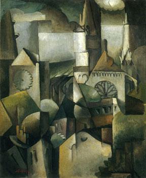 <em>Cathédrale</em>, 1912<br /> Huile sur toile<br /> 75,5 x 60 cm<br /> Acquis en 1956 (inv. KA 16/1956)