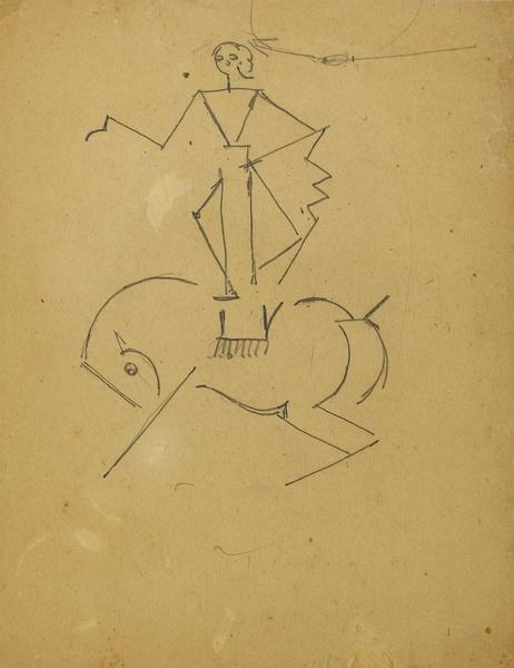 <em>Ecuyère de cirque</em>, 1914-1920<br /> Crayon sur papier<br /> 28 x 21,7 cm<br /> Acquis en 1976 (inv. AM 1976-1036)