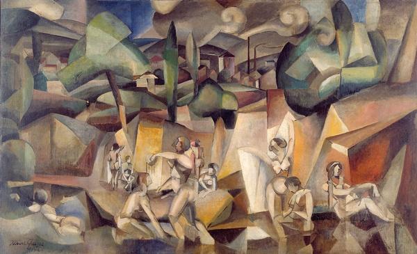 <em>Les Baigneuses</em>, 1912<br /> Huile sur toile<br /> 105 x 171 cm<br /> Acquis en 1937 (inv. AMVP 1126)