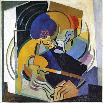 <em>Le Chant de guerre (portrait de Florent Schmitt)</em>, 1915<br /> Huile sur toile<br /> 101 x 101 cm<br /> Don de l'artiste, 1951 (inv. AM 3028 P)