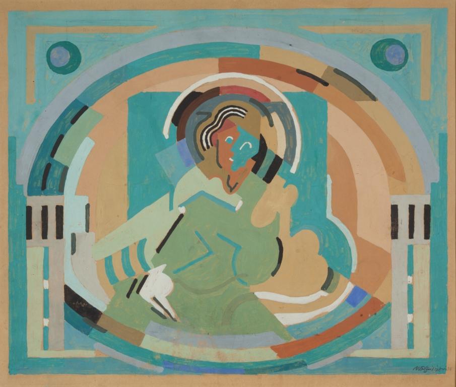 <em>Figure en gloire</em>, 1938<br /> Gouache sur carton<br /> 37 x 45 cm<br /> Saint-Rémy-de-Provence, musée Estrine