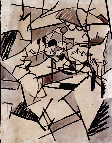 <em>Femme à la fenêtre (Tarrytown)</em>, vers 1915-1916<br /> Encre et lavis sur papier<br /> 62 x 48 cm<br /> Acquis en 2000 (inv. 2000.8)