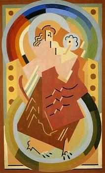 <em>Vierge à l'Enfant</em>, 1934 <br /> Huile sur toile<br /> 168 x 105 cm<br /> Don Juliette Roche-Gleizes, 1977 (inv. 23.074)