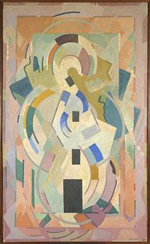 <em>Pour la contemplation</em>, 1942<br /> Huile sur toile<br /> 217 x 132 cm<br /> Lyon, musée des Beaux-Arts<br /> Photo Alain Basset