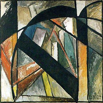 <em>Brooklyn Bridge</em>, 1915<br /> Huile et technique mixte sur toile, 1915<br /> 102 x 102 cm<br /> Don Solomon R. Guggenheim, 1944 (inv. 44.942)