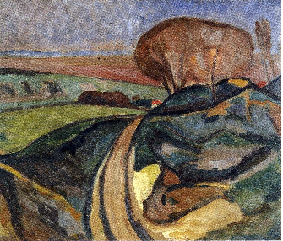 <em>Etude pour Paysage près de Paris</em>, 1910<br /> Huile sur toile<br /> 54 x 65 cm<br /> Acquis en 2012 (inv. 2012.?)