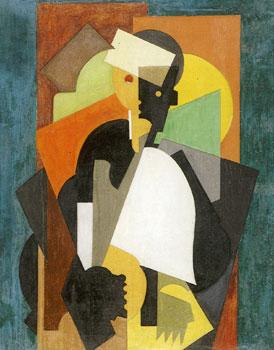 <em>L'Ecolier</em>, vers 1920<br /> Huile sur toile<br /> 92 x 73 cm<br /> Don Juliette Roche-Gleizes, 1962 (inv. L.62.1.1)