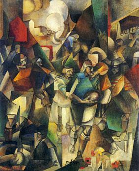 <em>Les Joueurs de foot-ball</em>, 1912-1913<br /> Huile sur toile<br /> 226 x 183 cm<br /> Alison Mellon Bruce Fund, 1970 (inv. 1970.11.1 (2372))