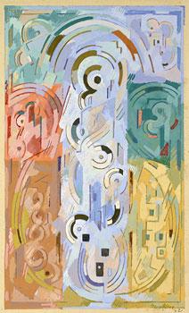 <em>Etude pour Peinture à sept éléments</em>, 1942<br /> Gouache sur papier<br /> 35,5 x 23 cm<br /> Legs André Dubois, 2004 (inv. 2005-22)