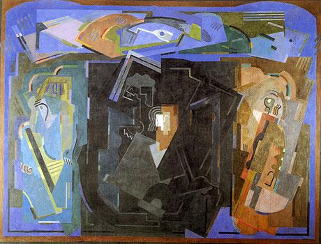 <em>Le Centre noir</em>, 1925<br /> Huile sur toile<br /> 2,685 x 3,540 m<br /> Lyon, musée des Beaux-Arts<br /> Photo Alain Basset