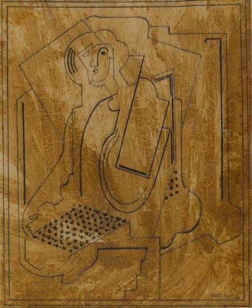<em>Etude pour Femme assise</em>, 1920<br /> Crayon<br /> 22,5 x 18 cm<br /> Acquis en 1971 (inv. C.71.2.5)