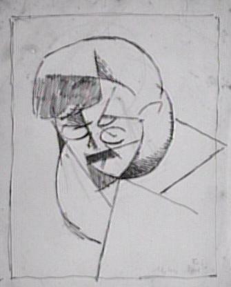 <em>Etude pour le portrait de Florent Schmitt</em>, 1915<br /> Mine de plomb et encre noire sur papier calque<br /> 27 x 21 cm<br /> Acquis en 1976 (inv. AM 1976-1039)
