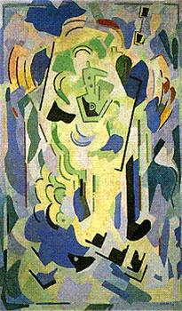 <em>Composition</em>, 1945<br /> Huile sur toile<br /> 183 x 110 cm<br /> Don Juliette Roche-Gleizes, 1977 (inv. 23.073
