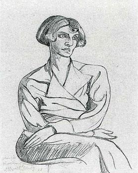 <em>Portrait de Claire Goll</em>, 1921<br /> Crayon sur papier<br /> 26 x 21 cm<br /> Acquis en 1973 (inv. 515.023 (6))