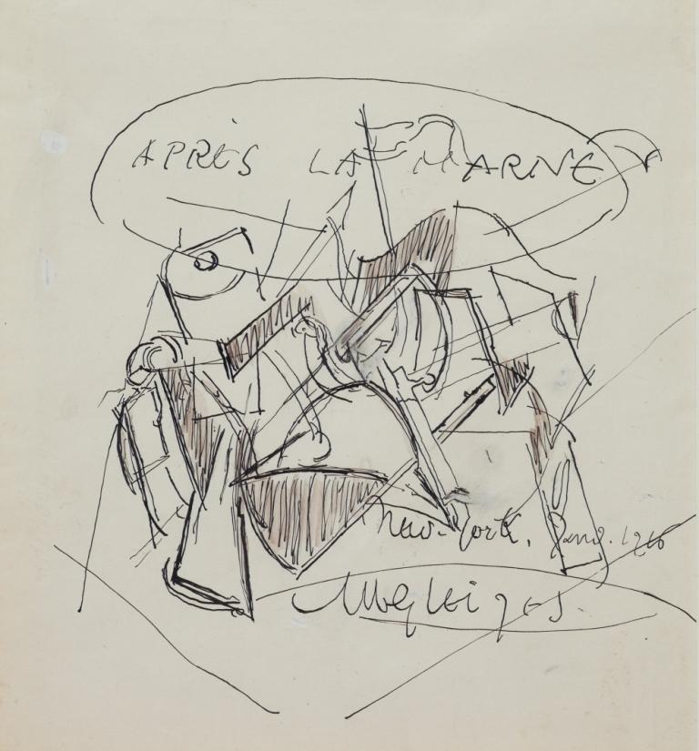 <em>Après la Marne</em>, 1916<br /> Encre de Chine sur papier<br /> 36 x 28 cm<br /> Acquis en 2007 (inv. 2007.56)