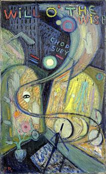 <em>Vitrines à New York</em>, 1918<br /> Huile sur toile<br /> 80 x 48 cm<br /> Paris, Fondation Albert Gleizes