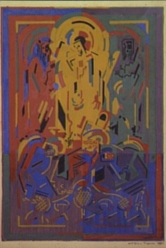 <em>Transfiguration</em>, 1939-1941<br /> Gouache sur carton<br /> 52,5 x 44,8 cm<br /> Acquis en 1947 (inv. AMD 389)