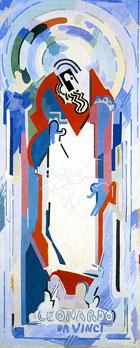 <em>Léonard de Vinci</em>, 1939-1940<br /> Huile sur toile<br /> 300 x 127 cm<br /> Don Robert L.B. Tobin, 1973 (inv. 1973-17-1)