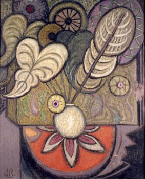 <em>Bouquet</em>, vers 1925<br /> Huile sur contreplaqué<br /> 74 x 60,5 cm<br /> Paris, Fondation Albert Gleizes