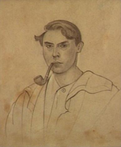 <em>Autoportrait</em>, 1919<br /> Mine de plomb sur papier<br /> 32 x 25 cm<br /> Acquis en 1969 (inv. AMD 693)