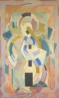 <em>Pour la contemplation</em>, 1942<br /> Huile sur toile<br /> 216,5 x 131 cm<br /> Legs André Dubois, 2004 (inv. 2005-24)