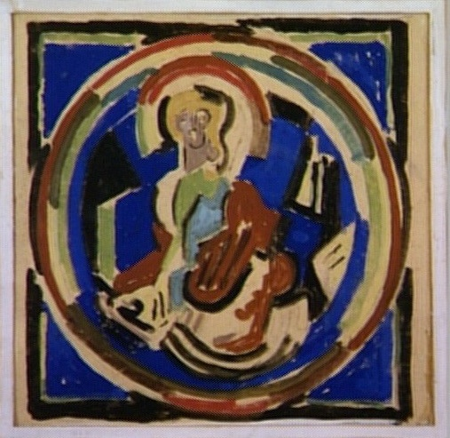 <em>Figure lumière</em>, 1934<br /> Gouache sur papier<br /> 27,6 x 28,2 cm<br /> Prov. (inv. AMD 388)