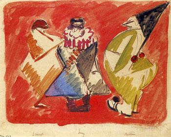 <em>Le Mur, Pyrame et Thisbé</em>, 1915<br /> Aquarelle, plume et encre noire (ou brune) sur papier<br /> 21 x 27 cm<br /> Don de Juliette Roche-Gleizes, 1954 (inv. 1954-133)