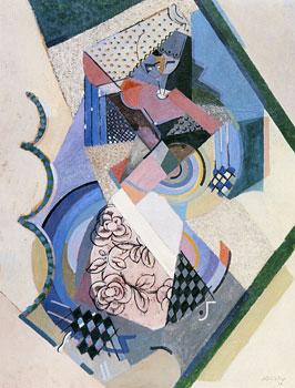 <em>Sur une danseuse espagnole</em>, 1916<br /> Huile et sable sur carton<br /> 101 x 76,5 cm<br /> New York, Solomon R. Guggenheim Museum