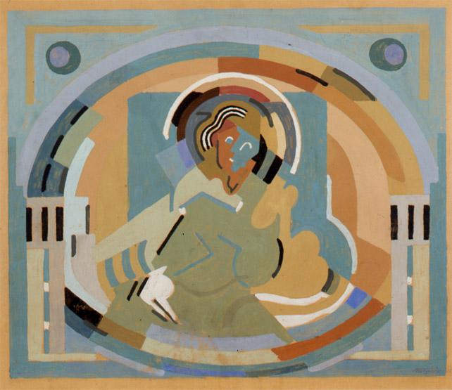 <em>Figure en gloire</em>, 1938<br /> Gouache sur carton<br /> 37 x 45 cm<br /> Acquis en 2003 (inv. 2003.14)