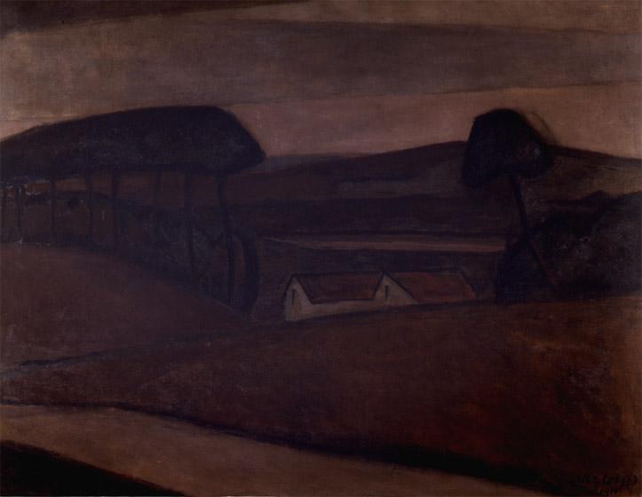 <em>Maison dans les arbres</em>, 1910<br /> Huile sur toile<br /> 113 x 145 cm<br /> Acquis en 2003 (inv. 2003.15)