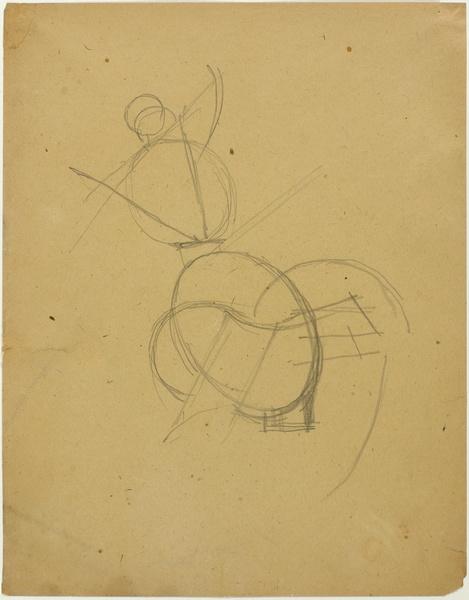 <em>Etude pour une danseuse</em>, 1917<br /> Mine graphite sur papier<br /> Acquis en 1975 (AM 1976-1037)