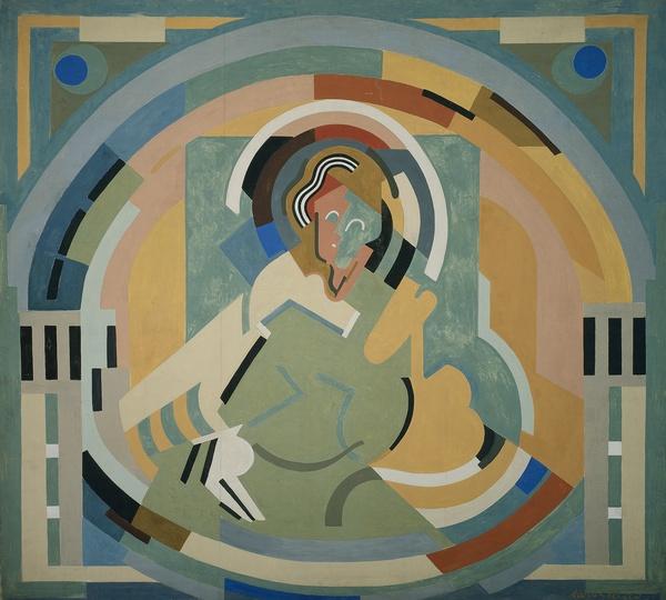 <em>Figure en gloire</em>, 1938<br /> Huile sur toile<br /> 536 x 536 cm<br /> Don du salon des Réalités nouvelles, 1939 (inv. AMVP 2748)