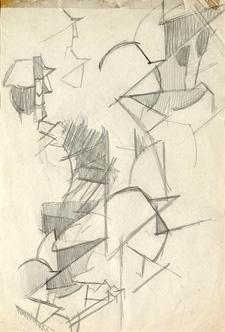 <em>Étude pour Paysage de Tarrytown</em>, 1916<br /> Mine de plomb sur papier<br /> 31,2 x 21,7 cm<br /> Legs André Dubois, 2004 (inv. 2005-15)