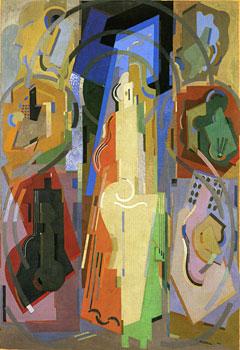 <em>Peinture à sept éléments</em>, 1924-1934<br /> Huile sur toile<br /> 261 x 181 cm<br /> Don Juliette Roche-Gleizes, 1964 (inv. AM 4220 P)<br /><br />  En dépôt au musée d'Art moderne de Saint-Etienne Métropole depuis 1986