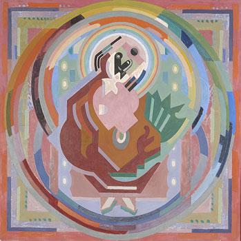 <em>Terre et ciel</em>, 1935<br /> Huile sur toile<br /> 145 x 145 cm<br /> Legs André Dubois, 2004 (inv. 2005-20)
